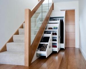 Шкаф для дома под лестницей – виды и правила выбора